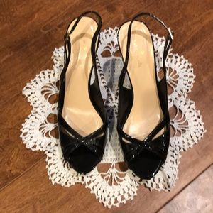 Kate Spade Glenda Black Patent Leather Heels 8.5 M